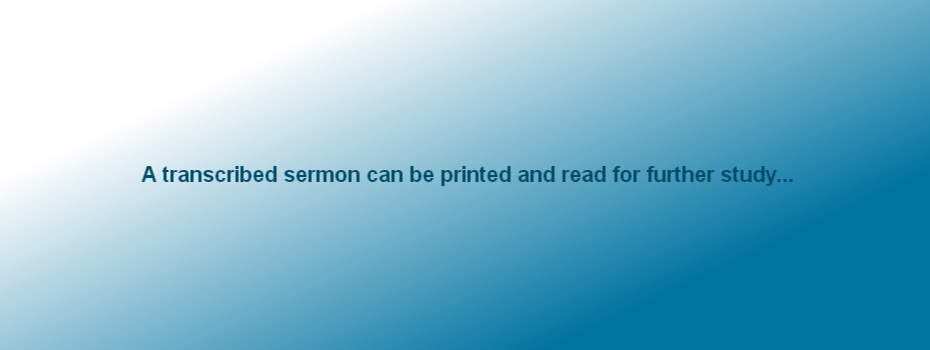 Print sermon for further study